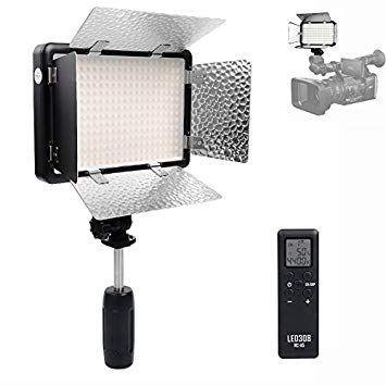 Godox LED308C II 3300-5600K LED Video Studio Light + Remote Control & Barndoor