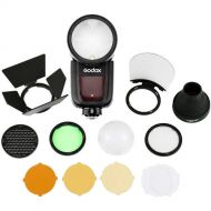 Godox V1 Round Head Flash  with AK-R1 Accessory Kit with free light stand