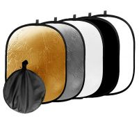 90*120CM 5 in 1 Photo Studio Collapsible Light Reflector + Case