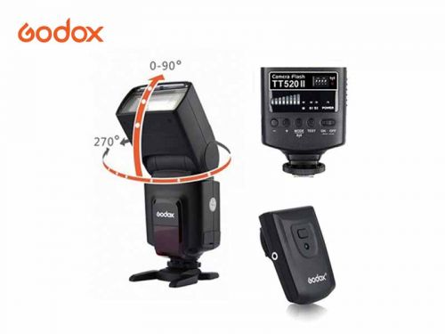 Godox TT520  Mark II with built in wireless and with trigger