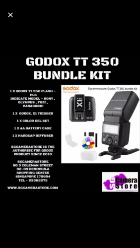 Godox TT350 Bundle with X1 trigger