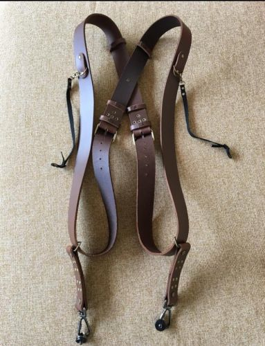 Leather Double CameraStrap ( 100 % leather )