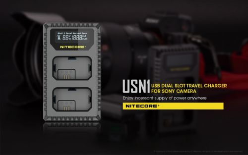 NiteCore Usb charger for Sony