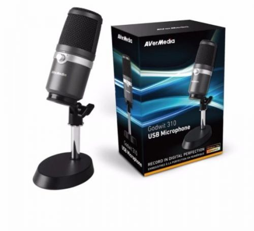 AVerMedia USB Microphone (AM310), Drive-free Microphone best for podcasting, str