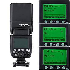 Godox TT685C E-TTL 2.4G Wireless Master Slave Speedlight Flashlight Speedlite for Canon EOS 650D 600D 550D 500D 5D Mark III