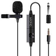 Lavalier Microphone,  Hands Free Clip-on Lapel Mic with Omnidirectional Condenser for Podcast, Recording, DSLR,Camera, Smartphone, PC,Laptop (236 in)