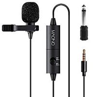 Lavalier Microphone, MAONO AU100 Hands Free Clip-on Lapel Mic with Omnidirectional Condenser for Podcast, Recording, DSLR,Camera, Smartphone, PC,Laptop (236 in)